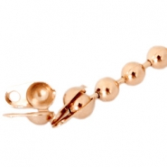 DQ end cap for 1.2mm ball chain DQ Rose Gold plated