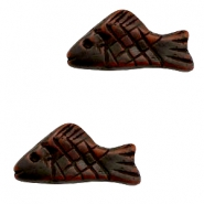 DQ acrylic beads fish Dark brown