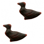DQ acrylic beads duck Dark brown