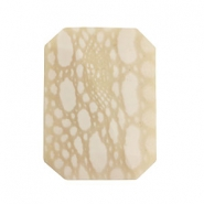 DQ acrylic Polaris beads rectangle Beige-white