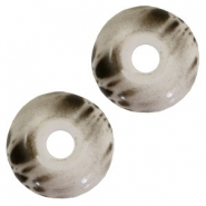 DQ acrylic Polaris beads disc Black-white