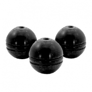 DQ acrylic beads 18mm ball Grey black