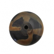 DQ acrylic beads disc Dark brown