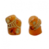 DQ acrylic beads fantasy figure Light topaz