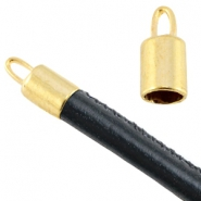 Basic Quality metal end caps Ø5mm Gold