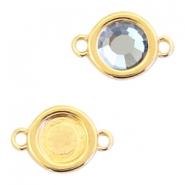 Round DQ metal settings 2 loops for SS20 flatback stone Gold (nickel free)
