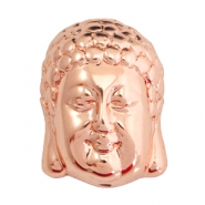 DQ acrylic metal look Buddha beads Rose gold