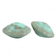 DQ acrylic Polaris beads 14mm disc Turquoise