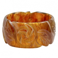 DQ acrylic Polaris carved bracelets Topaz brown