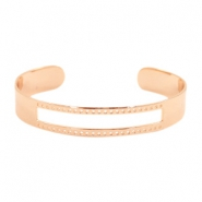 DQ metal findings basic bracelet (for macrame string) Rose gold (nickel free)