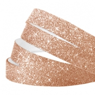 Crystal glitter tape 10mm Champagne rose