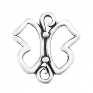 TQ metal charms connector butterfly Antique silver