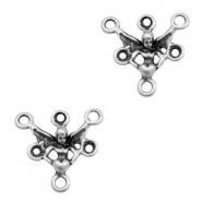 TQ metal charms connector angel Antique silver