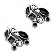 TQ metal charms setting for different chatons Antique silver