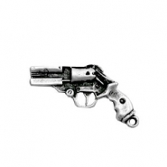 TQ metal charms revolver Antique silver