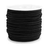 Coloured elastic cord 1.5mm Black