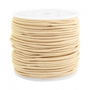 Coloured elastic cord 1.5mm Beige gold