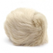Faux fur pompom charm Beige brown