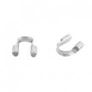 DQ metal findings wire guardian / wire protector 5mm (Ø0.56mm) Silver (nickel free)