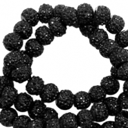 Sparkling beads 6mm Black