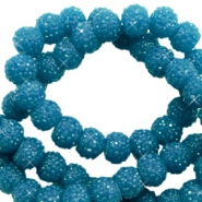 Sparkling beads 8mm Teal Blue