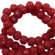 Sparkling beads 6mm Port Red