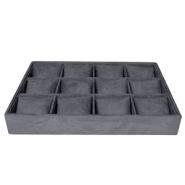 Jewellery display 12-compartments with pillow Anthracite