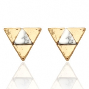 Trendy earrings studs triangle Gold