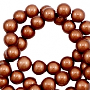 Miracle 3D beads 8mm Amber Brown
