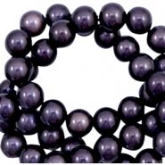 Miracle 3D beads 4mm Dark Lilac Purple