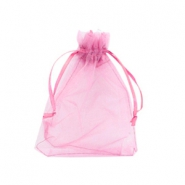 Jewellery organza bags 9x12cm Antique rose