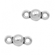 Charms TQ metal connector ball 8mm Antique Silver