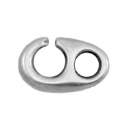 Charms TQ metal hook clasp Antique Silver