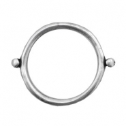 Charms TQ metal connector ring 35mm Antique Silver