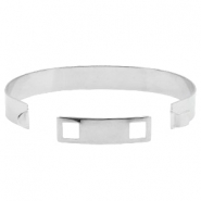 Findings TQ metal basic cuff bracelet 10mm Antique Silver