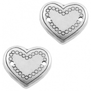 Charms TQ metal connector heart Antique Silver