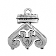 Charms TQ metal Boho style with 3 loops Antique Silver