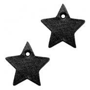 DQ leather charms star Midnight Black