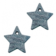 DQ leather charms star Vintage Blue