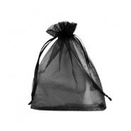 Jewellery Organza Bag 9x12cm Black