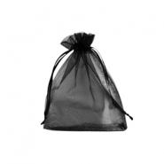 Jewellery Organza Bag 7x9cm Black
