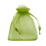 Jewellery Organza Bag 10x13cm Olive Green