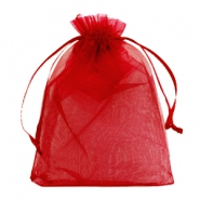 Jewellery Organza Bag 13x18cm Jester Red