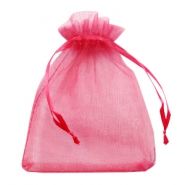 Jewellery Organza Bag 13x18cm Raspberry Pink