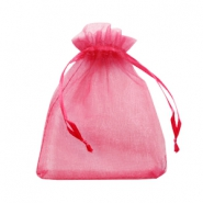 Jewellery Organza Bag 10x13cm Raspberry Pink