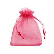 Jewellery Organza Bag 9x12cm Raspberry Pink