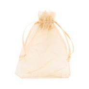 Jewellery Organza Bag 10x13cm Mimosa Peach