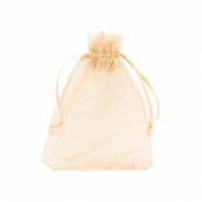 Jewellery Organza Bag 9x12cm Mimosa Peach