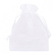 Jewellery Organza Bag 13x18cm White