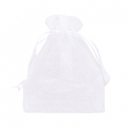 Jewellery Organza Bag 10x13cm White